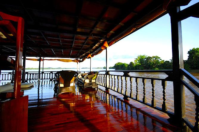 Cruising along the Mekong River