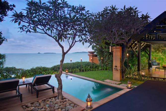 Anantara beachfront pool suite