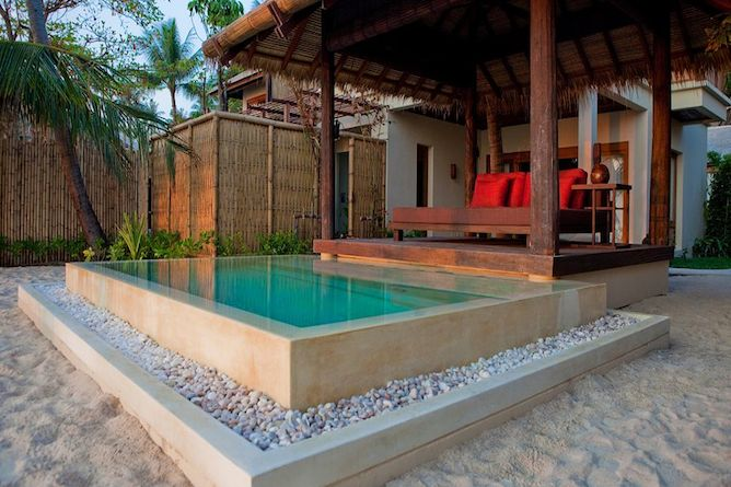 Ocean Garden Pool Suite with private seaside pool & daybed