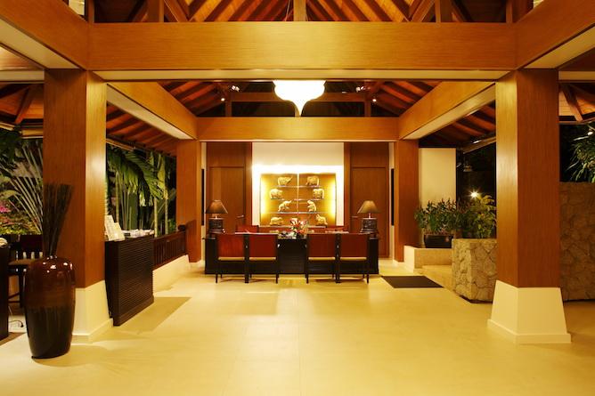 Resort reception and lobby area