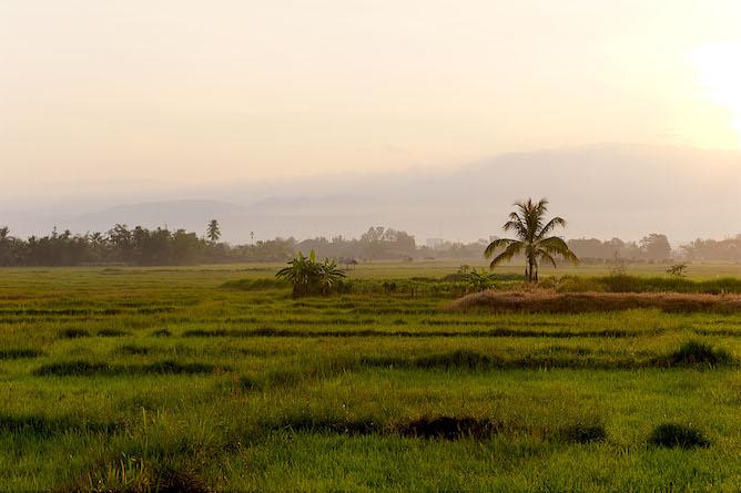 Beautiful countryside near Khum Lanna