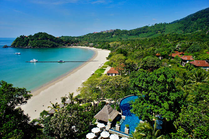 Aerial view of the delightful Pimalai Resort & Spa