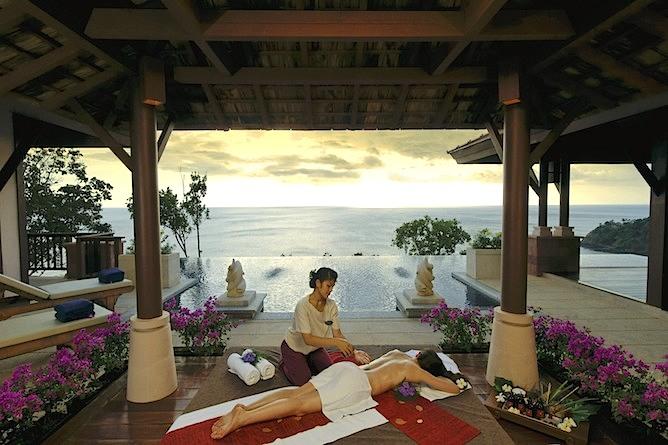 Enjoy a luxury spa treatment in the most idyllic setting