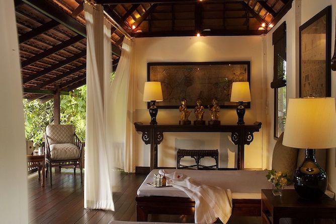 The enchanting open-air massage pavilion