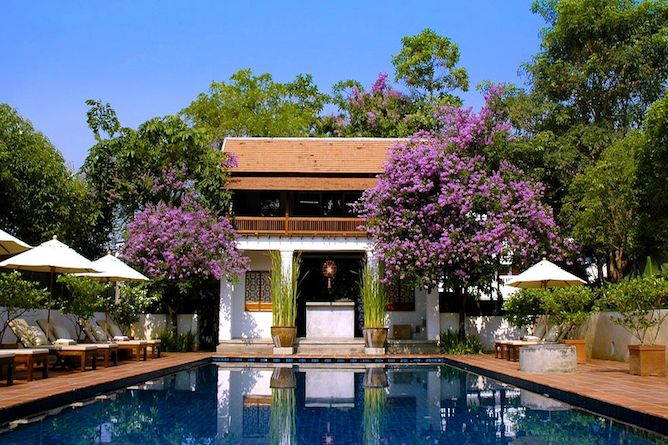 The tranquil swimming pool where drinks and light snacks are served pool-side throughout the day.