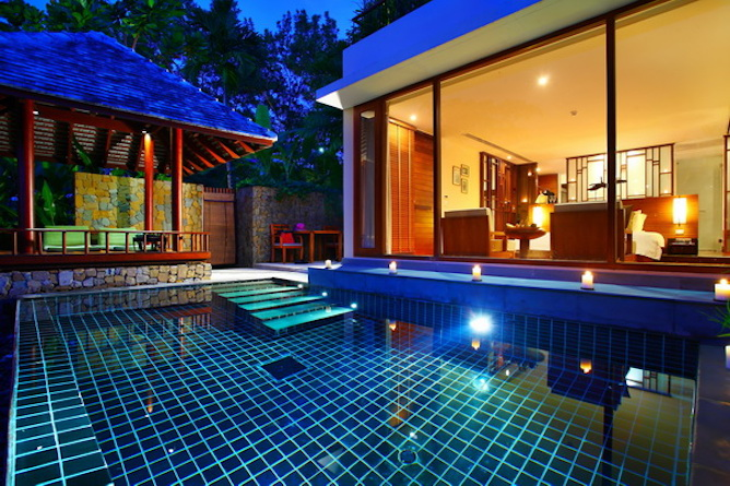 The Sarojin pool residence room exterior