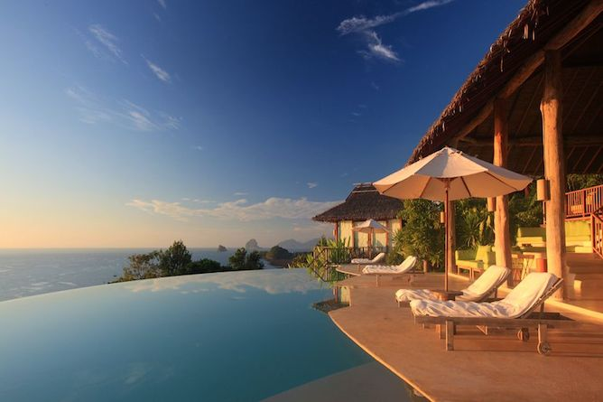 Outstanding views from the pool & sun terrace