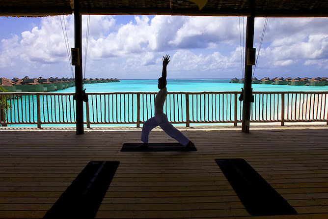 Daily yoga sessions with spectacular ocean views