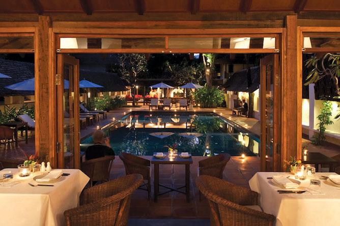 Ruen Tamarind restaurant with views towards the pool