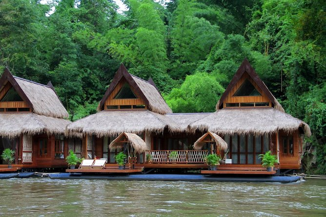 The floating villas