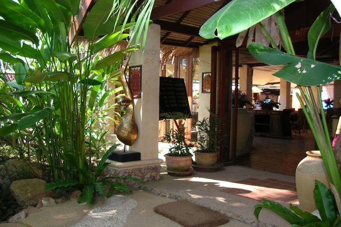 The resort entrance and reception