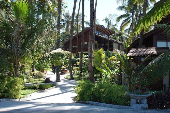 The lush gardens at Amata Resort