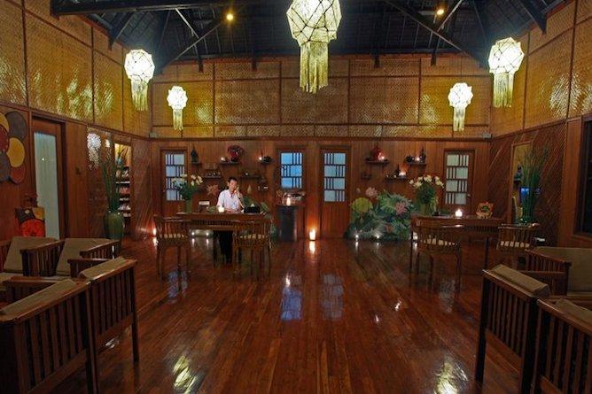 The resort reception area