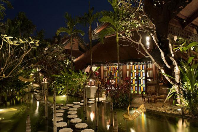 The gardens & lotus ponds at Mandalay Hill