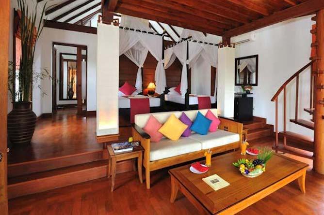 Lotus villa living area