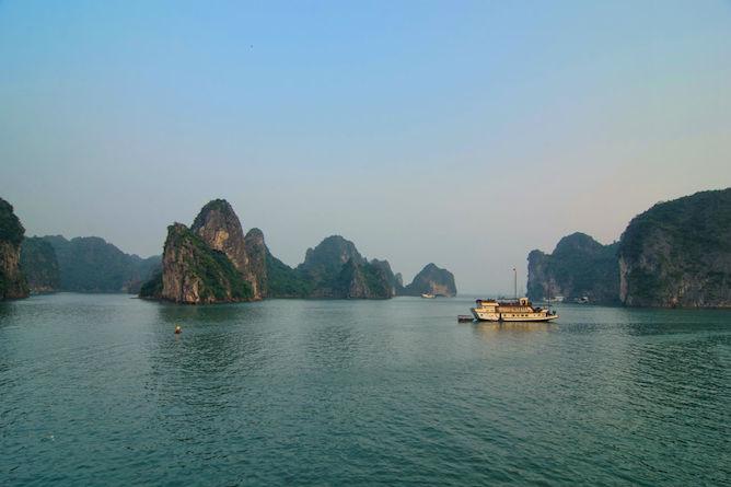 The Dragon's Pearl cruising Halong Bay