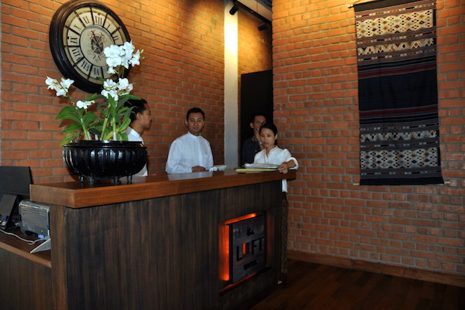 A warm welcome awaits you at 'The Loft'