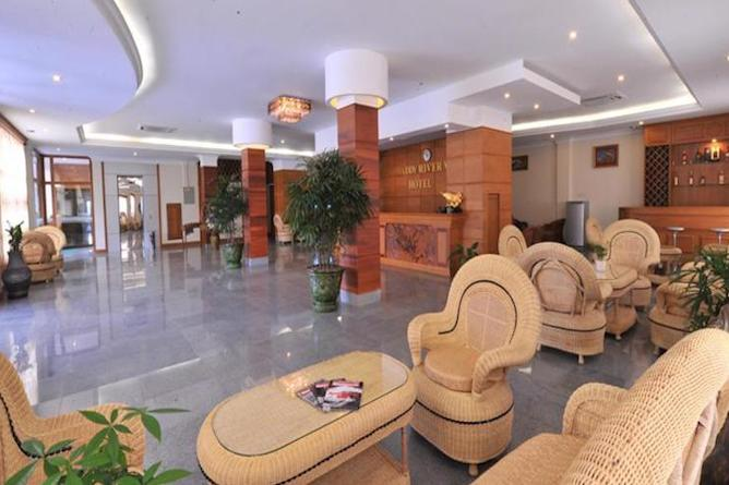 Hotel lobby & reception area