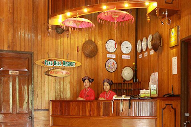 Pine Hill reception desk