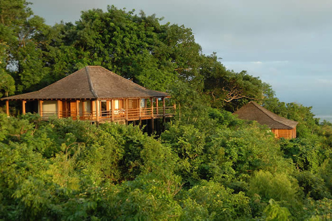 Accommodation is nestled in the lush countryside
