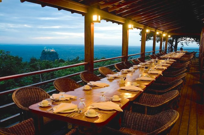 Dine outside and take in the spectacular view