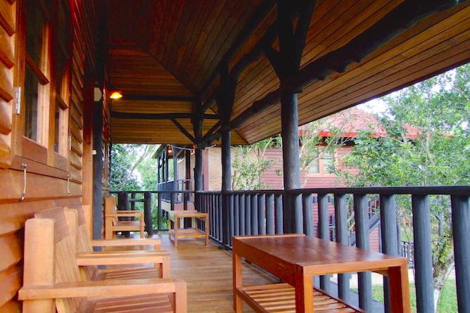 Each room has a personal verandah
