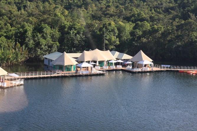 The central hospitality area
