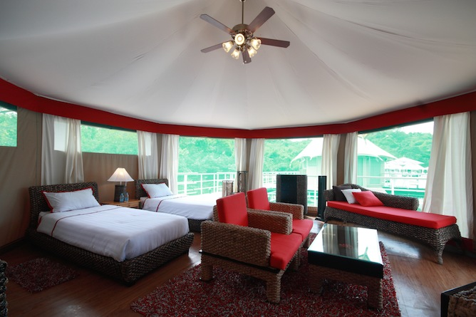 Double bedded tented villa