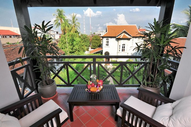 Private balcony overlooking the gardens