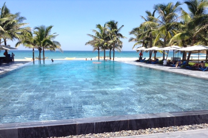 Infinity pool at the resort