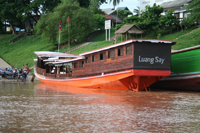 One of the Luang Say Cruise boats ready to depart