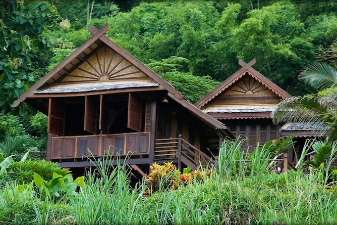 A typical lodge at Luang Say