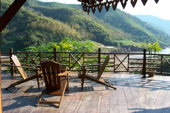 The terrace offers a superb spot to relax & unwind