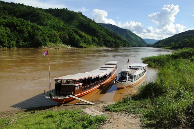 Enjoy a cruise down the Mekong River and witness the stunning views & wildlife it has to offer