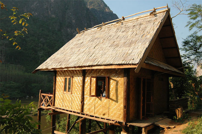 A typical bungalow at the Nong Khiaw Riverside