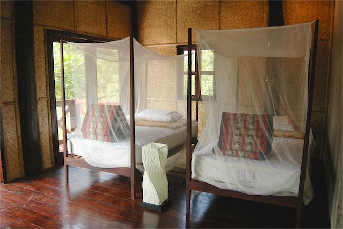 The bungalow interior