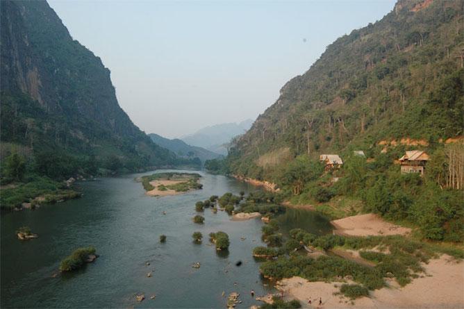 The picturesque Nam Ou River