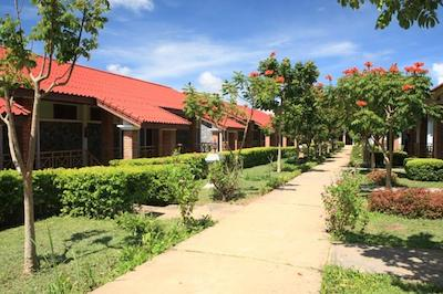 The walkways to accommodation