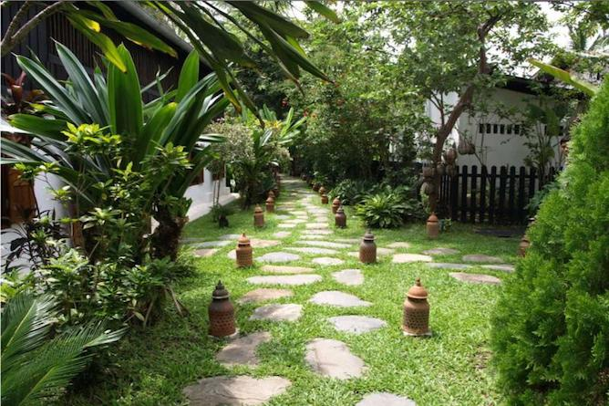 The attractive gardens