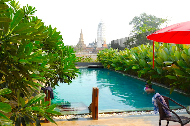 The view of the Ayutthaya World Heritage Park from the hotel