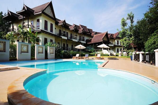The swimming pool & terrace