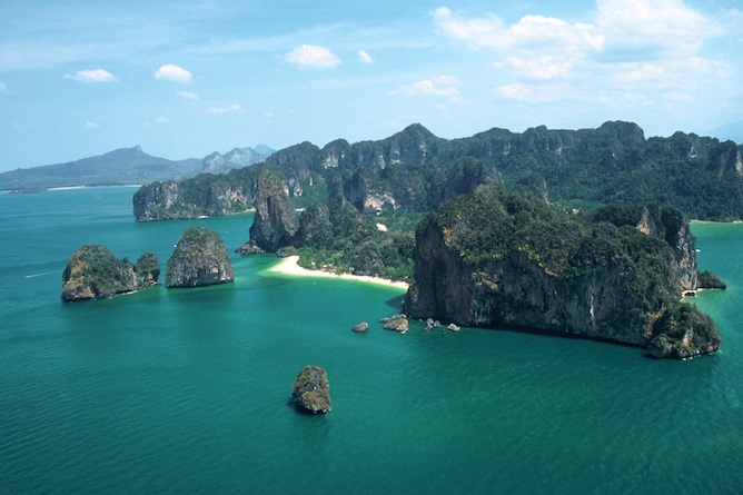 The Rayavadee is set in a stunning location overlooking the Andaman Sea
