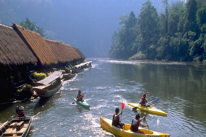 Recreational activities are on offer including kayaking