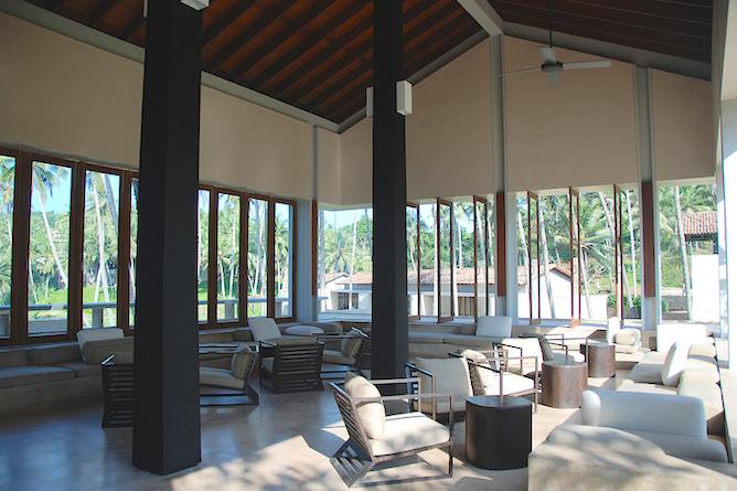 Hotel lobby & reception area
