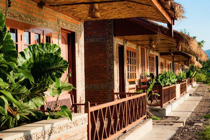 Accommodation is made up of traditional timber built bungalows