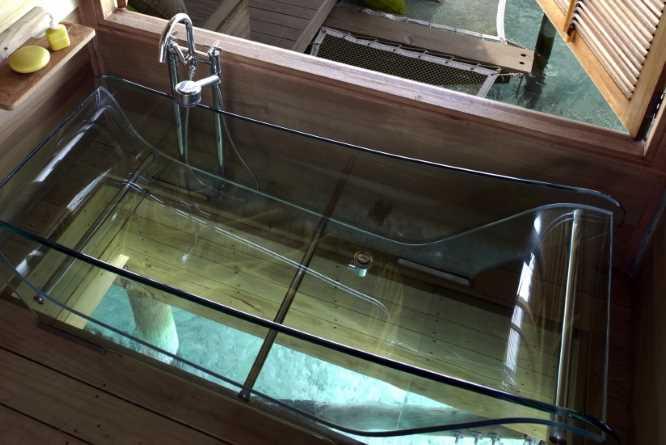 THAT glass bathtub!