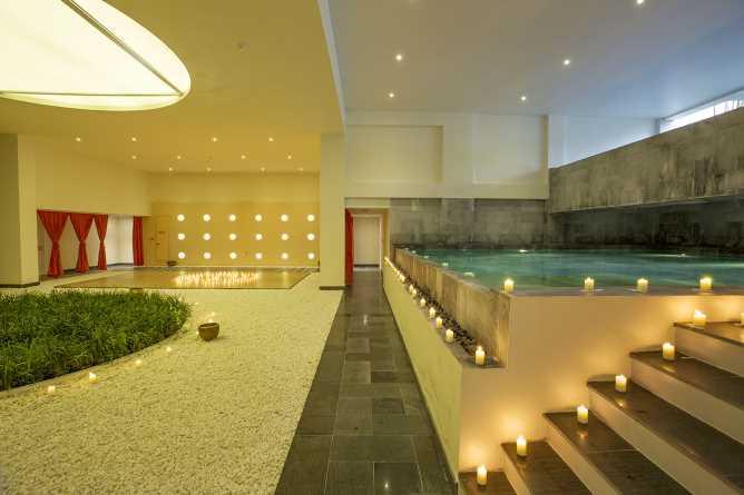 Hot pool at the My Chi Spa