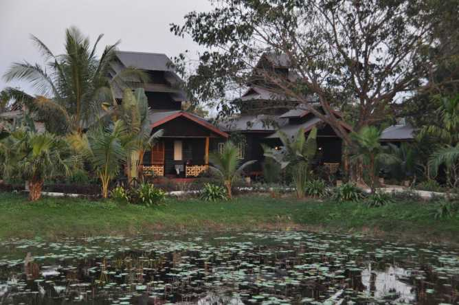 The grounds of Mrauk Oo Princess Resort