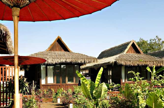 La Maison Birmane's bungalow accommodation