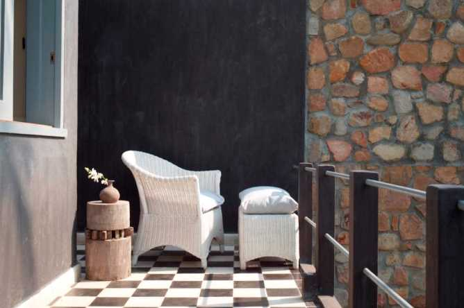 Private terrace of room 1